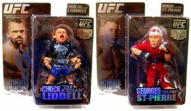 Round 5 UFC Ultimate Collector Series 1 Bundle Set of 2 LIMITED EDITION Action Figures [Georges St. Pierre & Chuck Liddell]