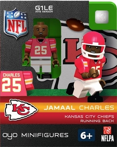 OYO Football NFL Building Brick Minifigure Jamall Charles [Kansa City Chiefs]