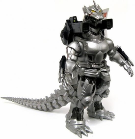 Godzilla Japanese 9 Inch Vinyl Figure 2003 Card 2002 Gold Sticker Powered Up Mechagodzilla [Godzilla Against Mechagodzilla]