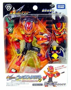 Mega Man Rockman Star Force Takara Wave Battle DX Action Figure WM-03 Fire Leo Mega Man