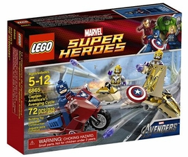 LEGO Marvel Super Heroes Set #6865 Captain America's Avenging Cycle
