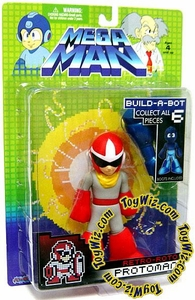 Mega Man Series 1 Retro Roto Build a Bot Action Figure Protoman BLOWOUT SALE!