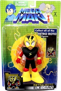Mega Man Series 1 Retro Roto with BUILD-A-BOT Piece Action Figure Elecman BLOWOUT SALE!