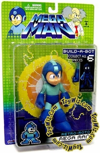Mega Man Series 1 Retro Roto Build a Bot Action Figure Mega Man