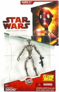 Star Wars 2009 Clone Wars Animated Action Figure CW No. 16 Commando Droid