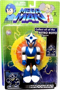 Mega Man Series 1 Retro Roto Action Figure Shadowman [NO Build-A-Bot Piece!]