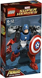 LEGO Marvel Super Heroes Ultrabuild Figure Set #4597 Captain America