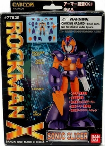 Mega Man X Mega Armor Series Model Kit Sonic Slicer Damaged Package, Mint Contents