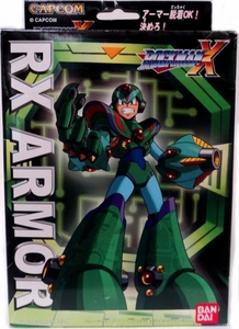 Mega Man X Mega Armor Series Model Kit Rx Armor Damaged Package, Mint Contents