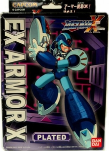 Mega Man X Mega Armor Series Model Kit EX Armor X PLATED Damaged Package, Mint Contents