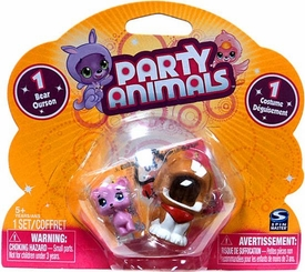 Party Animals RANDOM Single Figure Pack [1 Random Bear & 1 Random Costume]
