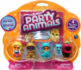 Party Animals RANDOM Figure 4-Pack [4 Random Bears & 4 Random Costumes]