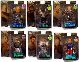 Round 5 UFC Ultimate Collector Series 2 LIMITED EDITION Set of 6 Action Figures [Couture, Penn, Kimbo, Griffin, Bisping & Ortiz] Only 1,000 Sets Exist!