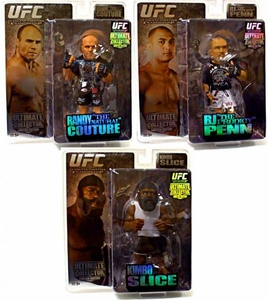 Round 5 UFC Ultimate Collector Series 2 Bundle Set of 3 LIMITED EDITION Action Figures [Randy Couture, BJ Penn & Kimbo Slice]