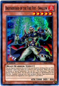 YuGiOh Zexal Cosmo Blazer Single Card Super Rare CBLZ-EN027 Brotherhood of the Fire Fist - Swallow