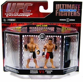UFC Jakks Pacific Series 1 Ultimate Fighters Micro Figure 2-Pack Brock Lesnar vs. Frank Mir [UFC 100]