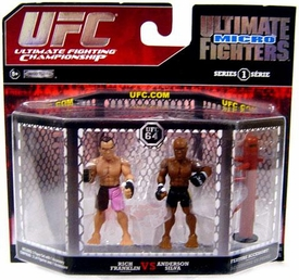 UFC Jakks Pacific Series 1 Ultimate Fighters Micro Figure 2-Pack Anderson Silva vs. Rich Franklin  [UFC 64]