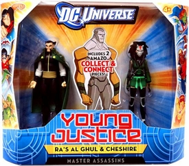 Young Justice 4 Inch Action Figure 2-Pack Ra's Al Ghul & Cheshire [Master Assassins]