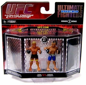 UFC Jakks Pacific Series 1 Ultimate Fighters Micro Figure 2-Pack Chuck Lidell vs. Tito Ortiz [UFC 47]
