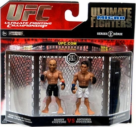 UFC Jakks Pacific Series 2 Ultimate Fighters Micro Figure 2-Pack Randy Couture vs. Antonio Rodrigo