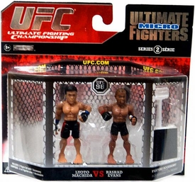 UFC Jakks Pacific Series 2 Ultimate Fighters Micro Figure 2-Pack Lyoto Machida vs. Rashad Evans