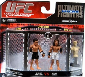 UFC Jakks Pacific Series 3 Ultimate Fighters Micro Figure 2-Pack Diego Sanchez vs.Clay Guida BLOWOUT SALE!