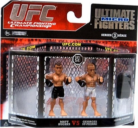 UFC Jakks Pacific Series 3 Ultimate Fighters Micro Figure 2-Pack Matt Hughes vs. Georges St-Pierre [White Shorts]