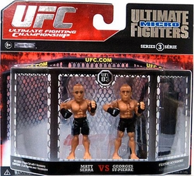 UFC Jakks Pacific Series 3 Ultimate Fighters Micro Figure 2-Pack Matt Serra vs. Georges St-Pierre [Black Shorts] BLOWOUT SALE!