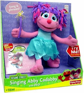 Fisher Price Sesame Street Plush Toy Singing Abby Cadaby with DVD