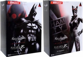 Batman Arkham City Series 1 Set of Both Square Enix Play Arts Kai Action Figures [Batman & Catwoman]