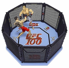 UFC Jakks Pacific Exclusive UFC 100 Octagon Ring [Includes Brock Lesnar & Frank Mir Action Figures!]