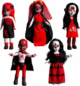 Mezco Toyz Living Dead Dolls Days of the Dead Series 20 VARIANT Set of 5 Figures [Camilla, Catrina, El Luchador Muerto, Savannah &Santeria]