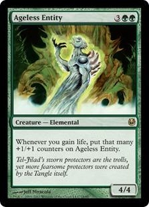Magic the Gathering Duel Decks: Ajani vs. Nicol Bolas Single Card Green Rare #18 Ageless Entity