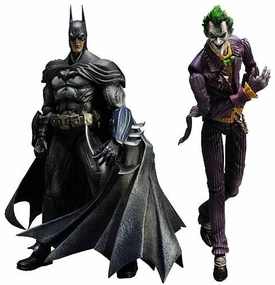 Batman Arkham Asylum Series 1 Set of Both Square Enix Play Arts Kai Action Figures [Batman & Joker]