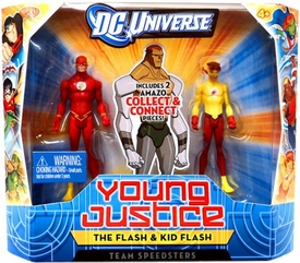 Young Justice 4 Inch Action Figure 2-Pack Flash & Kid Flash [Team Speedsters]