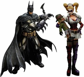 Batman Arkham Asylum Series 2 Set of Both Square Enix Play Arts Kai Action Figures [Armor Batman & Harley Quinn]