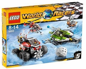 LEGO World Racers Set #8863 Blizzard's Peak Damaged Package, Mint Contents!