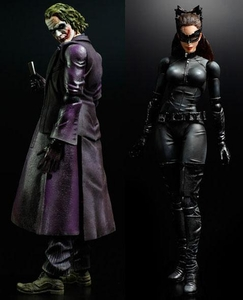 Dark Knight Square Enix Play Arts Kai Set of Both Series 2 Action Figures [Joker & Selina Kyle]