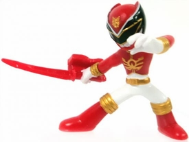 Power Rangers Megaforce Series 1 LOOSE Mini PVC Battle-Ready 2 Inch Figure Red Megaforce Ranger [Includes Card!]