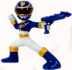 Power Rangers Megaforce Series 1 LOOSE Mini PVC Battle-Ready 2 Inch Figure Blue Megaforce Ranger [Includes Card!]