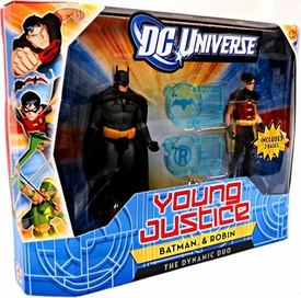 Young Justice 4 Inch Action Figure 2-Pack Batman & Robin [Dynamic Duo]