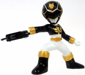 Power Rangers Megaforce Series 1 LOOSE Mini PVC Battle-Ready 2 Inch Figure Black Megaforce Ranger [Includes Card!]