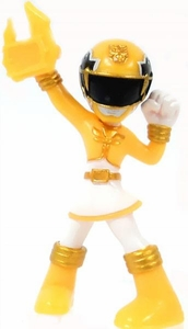 Power Rangers Megaforce Series 1 LOOSE Mini PVC Battle-Ready 2 Inch Figure Yellow Megaforce Ranger [Includes Card!]
