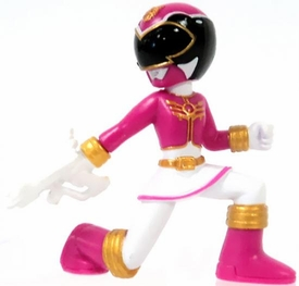 Power Rangers Megaforce Series 1 LOOSE Mini PVC Battle-Ready 2 Inch Figure Pink Megaforce Ranger [Includes Card!]