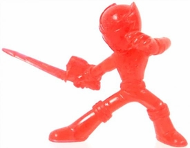 Power Rangers Megaforce Series 1 LOOSE Mini PVC Battle-Ready 2 Inch Figure Clear Red Megaforce Ranger [Includes Card!]