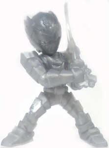 Power Rangers Megaforce Series 1 LOOSE Mini PVC Battle-Ready 2 Inch Figure Silver Robo Knight [Includes Card!]