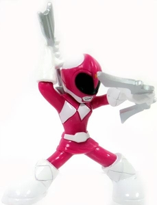 Power Rangers Megaforce Series 1 LOOSE Mini PVC Battle-Ready 2 Inch Figure Pink Mighty Morphin Ranger [Includes Card!]