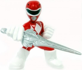 Power Rangers Megaforce Series 1 LOOSE Mini PVC Battle-Ready 2 Inch Figure Red Power Ranger [Includes Card!]