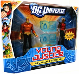 Young Justice 4 Inch Action Figure 2-Pack Aquaman & Aqualad [Heroes of the Deep]