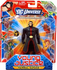Young Justice 4 Inch Action Figure Vandal Savage [Includes Build a Hall of Justice Piece]
